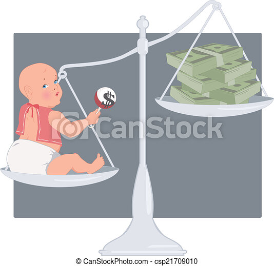 Cost of having a baby - csp21709010