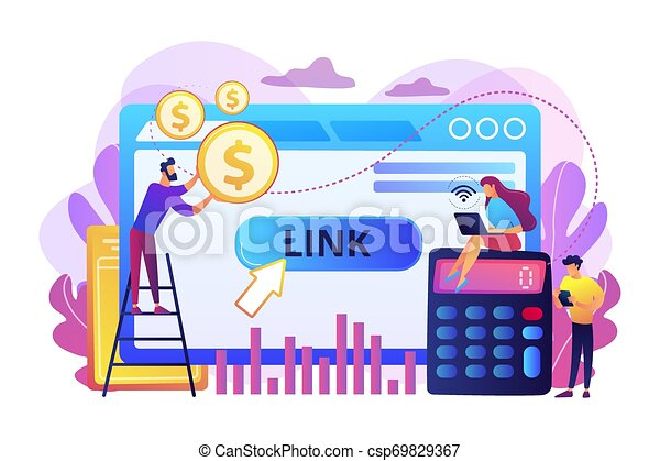 Cost per acquisition CPA model concept vector illustration. - csp69829367