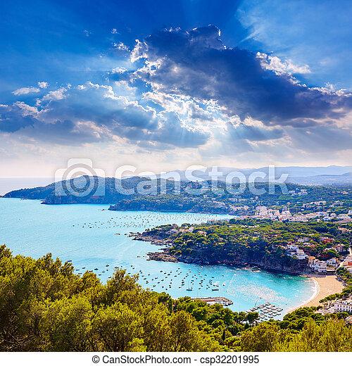 Costa Bravea Calella vista aérea Girona Cataluña - csp32201995