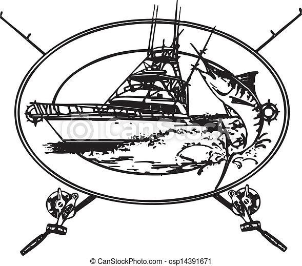 costa afuera, barco - csp14391671