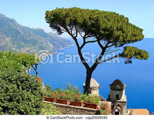 costa, amalfi, vista - csp20509340