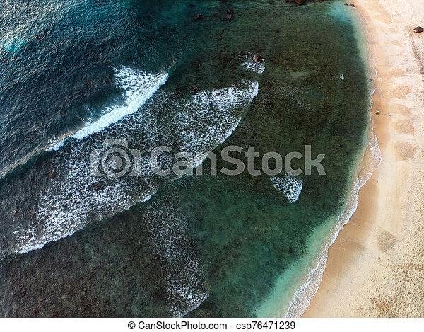costa, hermoso, vista, aéreo - csp76471239