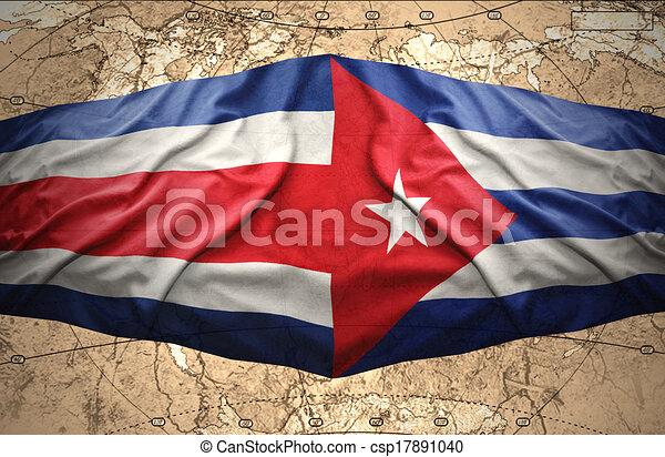 Carte Cuba Costa Rica.Costa Rica Cuba Costa Cubaine Carte Politique Onduler