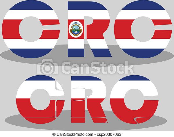 Costa Rica Flag in puzzle - csp20387063