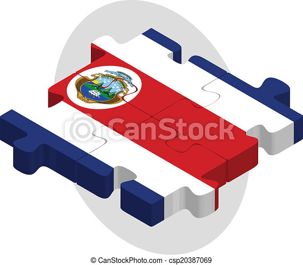 Costa Rica Flag in puzzle - csp20387069