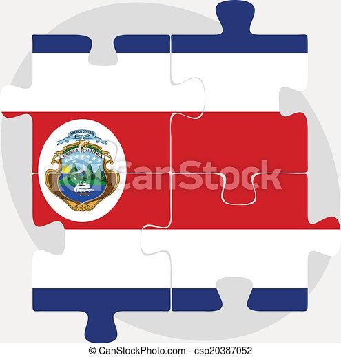 Costa Rica Flag in puzzle - csp20387052