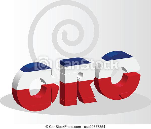 Costa Rica Flag in puzzle - csp20387354
