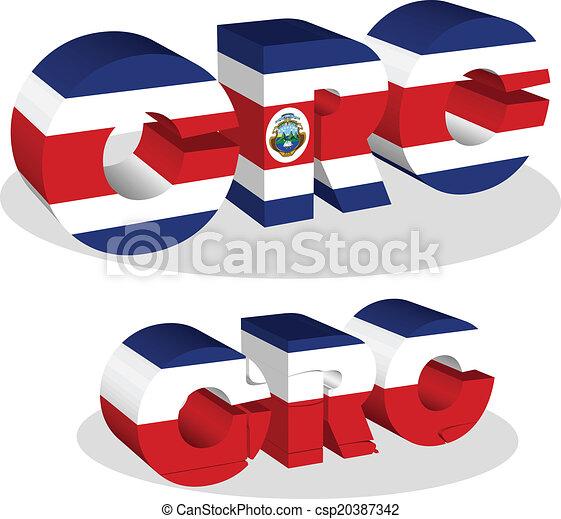 Costa Rica Flag in puzzle - csp20387342