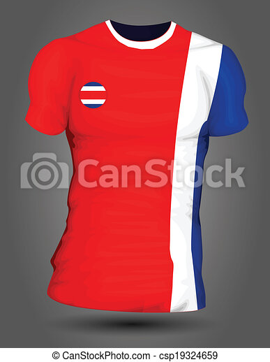 Costa rica soccer jersey. bcd966232