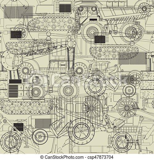 Costruction vehicles pattern - csp47873704