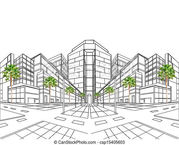 costruzione, c, due, prospettiva, punto - csp15405603