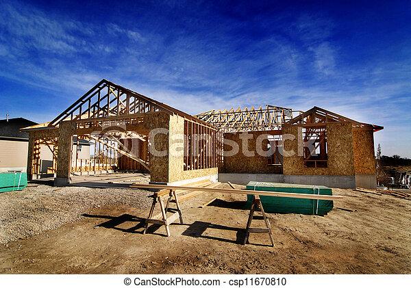 costruzione casa, nuovo - csp11670810