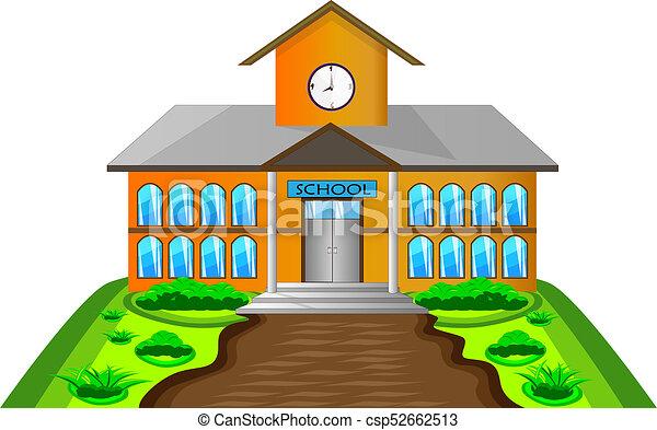 Costruzione scuola illustrazione costruzione scuola for Scuola clipart