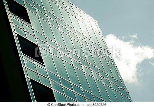 costruzione, vetro, moderno, corporativo - csp3920526