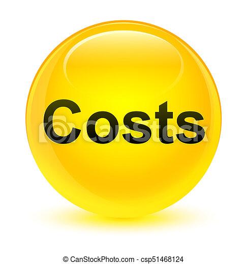 Costs glassy yellow round button - csp51468124