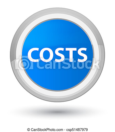 Costs prime cyan blue round button - csp51487979
