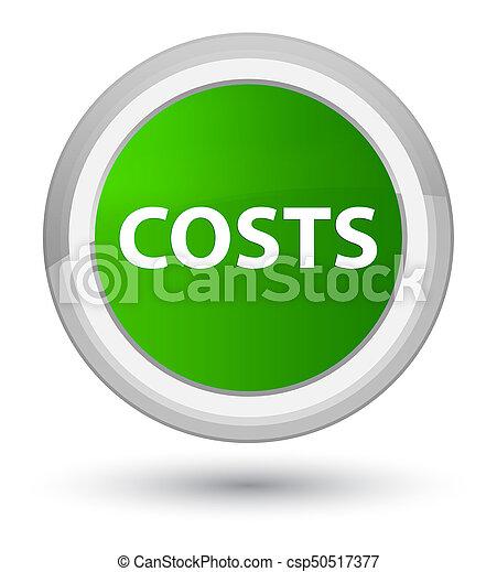 Costs prime green round button - csp50517377