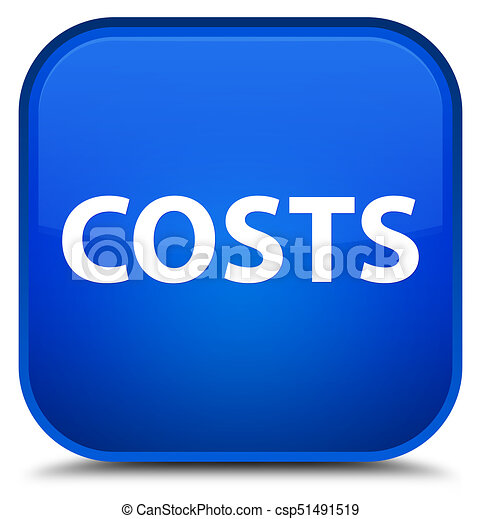 Costs special blue square button - csp51491519