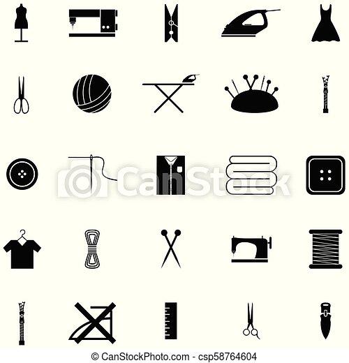 Cosiendo icono - csp58764604