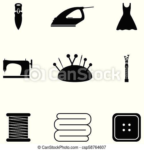 Cosiendo icono - csp58764607
