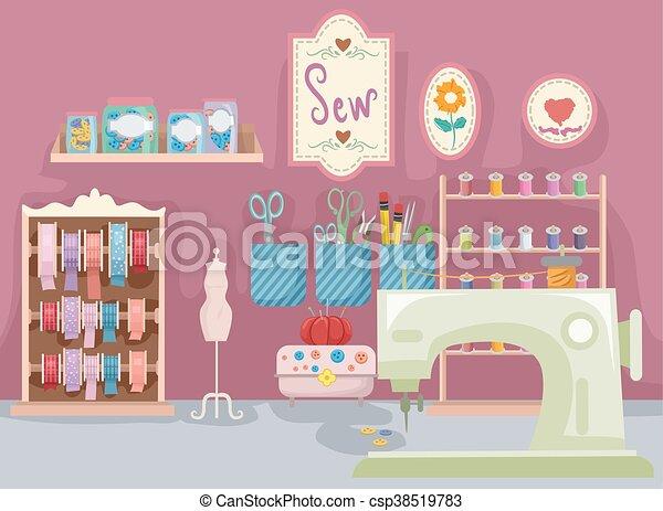 Sala de costura - csp38519783