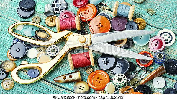 costura, herramientas - csp75062543