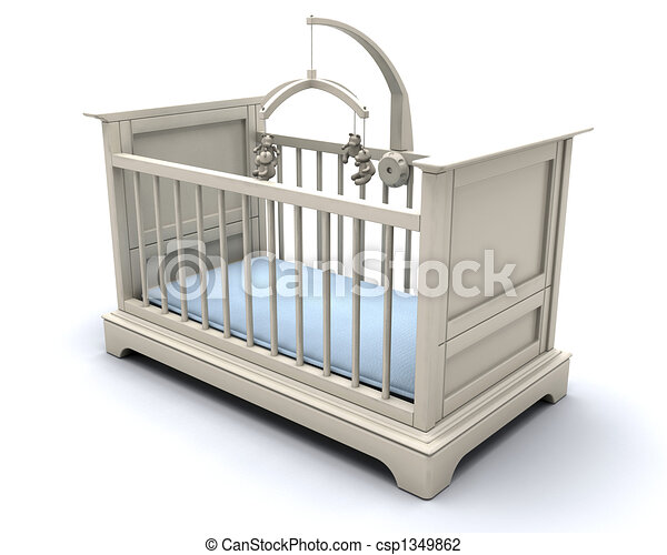 Cot for baby boy - csp1349862