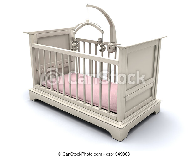 Cot for baby girl - csp1349863