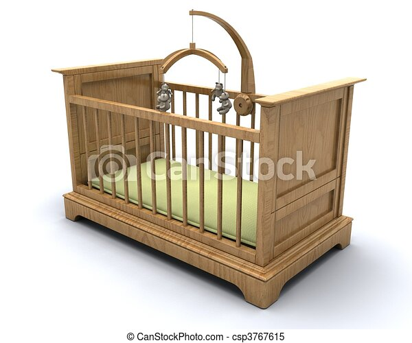 Cot for baby - csp3767615
