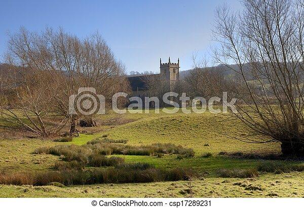 Iglesia Cotswold - csp17289231