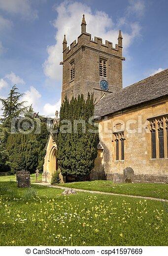 Iglesia Cotswold - csp41597669