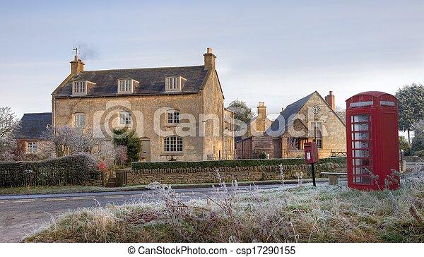 El pueblo Cotswold en invierno - csp17290155