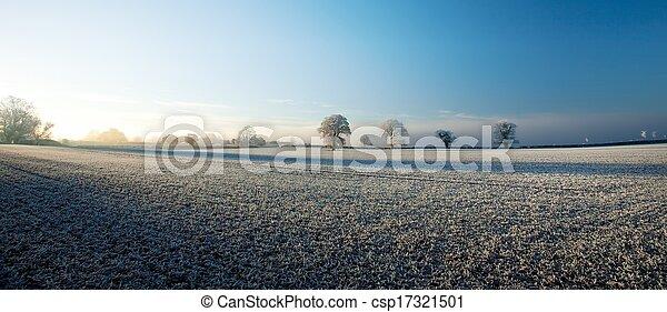 La granja Cotswold en invierno - csp17321501