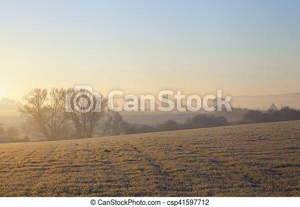 Paisaje Cotswold en invierno - csp41597712