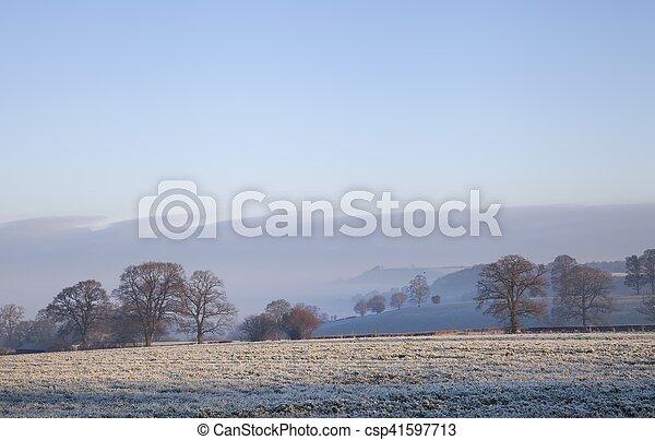 Paisaje Cotswold en invierno - csp41597713