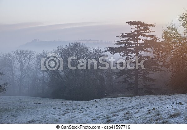 Paisaje Cotswold en invierno - csp41597719