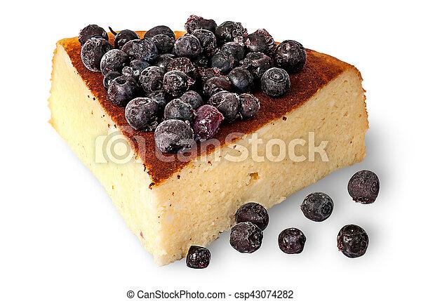 Cottage Cheese Casserole With Frozen Blueberries   Csp43074282