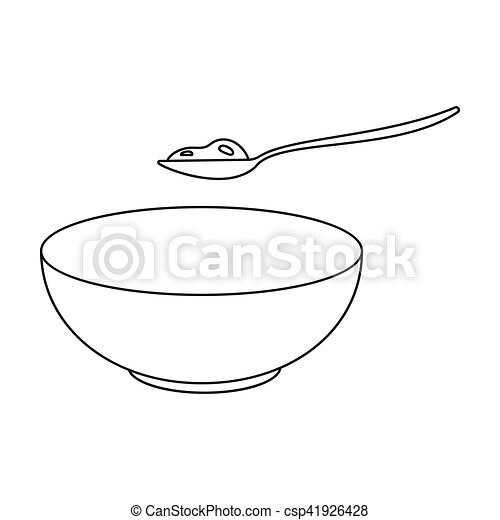 Cottage Cheese Icon In Outline Style Isolated On White Background Milk Symbol Stock Vector