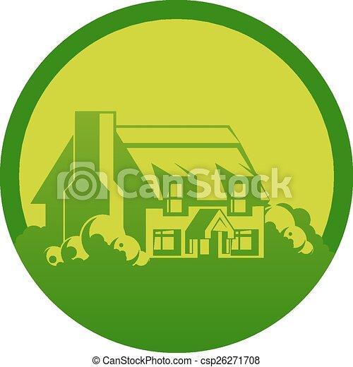 Cottage circle design - csp26271708