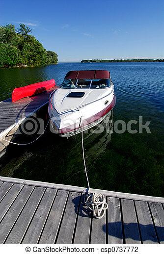 Cottage Dock - csp0737772