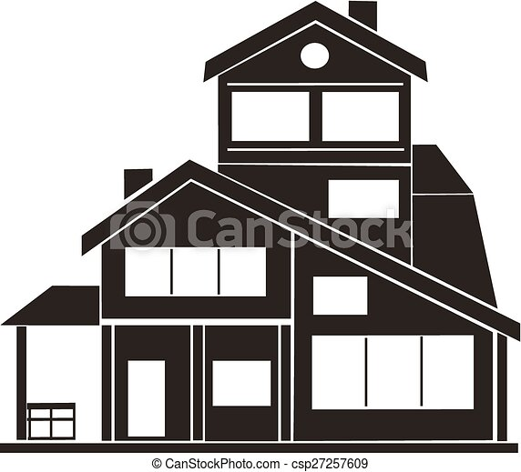 Computer Design Cartoon Vector Illustration Of Cottage House