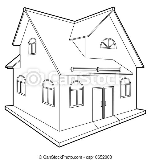 Cottage Vector Illustration Of A House Isolated On White