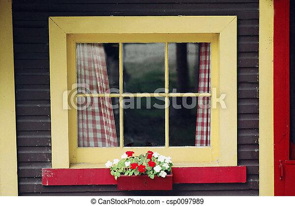 Cottage Window - csp0097989