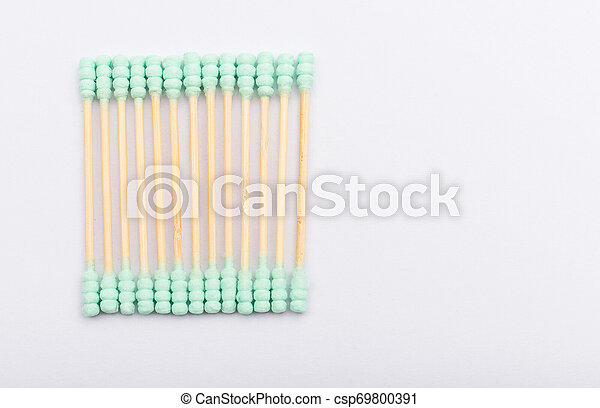 Cotton buds isolated on white background - csp69800391