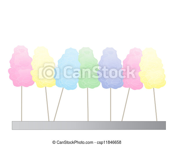 cotton candy background - csp11846658