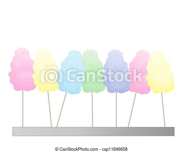 cotton candy background - csp11846658