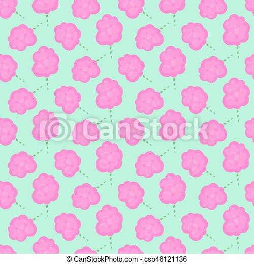 Cotton candy floss vector seamless pattern - csp48121136