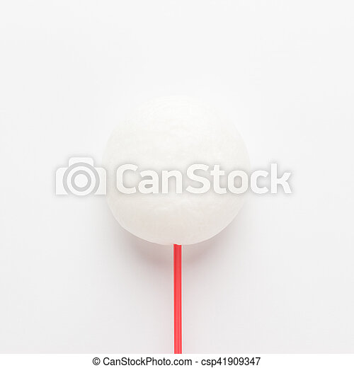 cotton candy on the white background - csp41909347