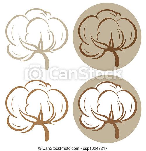 Cotton icons - csp10247217