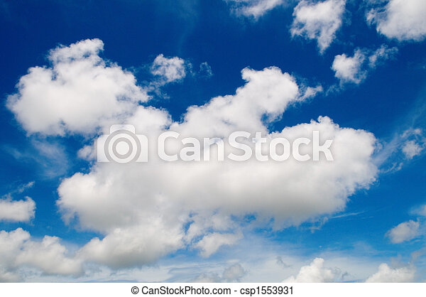 Cotton like cloudy sky - csp1553931